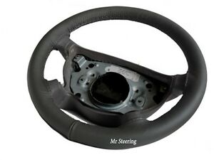 Fits Volvo Truck Vnl 730 Real Dark Grey Italian Leather Steering Wheel Cover New