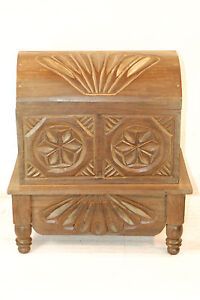 Dark Guatemalan Round Top Chest Hand Carved