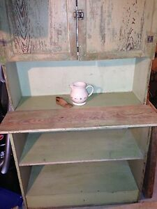 Antique Primitive Hutch Cupboard 68 X 36 X 16