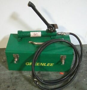 Greenlee 1725 Hydraulic Foot Pump 10000 Psi Max With Case