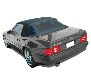 Mercedes R129 Sl Convertible Soft Top Replacement 1990 2002 Black Stayfast Clo