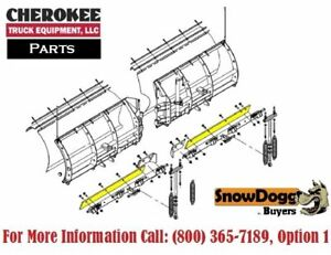Snowdogg buyers Products 16120830 Black Steel Main Cutting Edge For Vx95 Plow