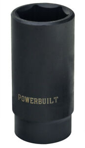 Powerbuilt 1 2 Inch Drive Metric Deep Impact Socket 19mm 642318
