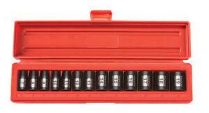 Tekton 13 Pc 3 8 Drive 12 Point Shallow Impact Socket Set Metric Warranty47916
