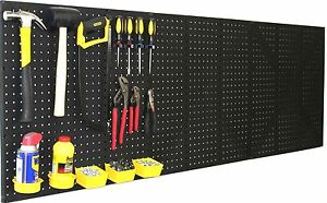 Wallpeg 4 Black Plastic Pegboard Panels 96 Wide Garage Tool Pegboard