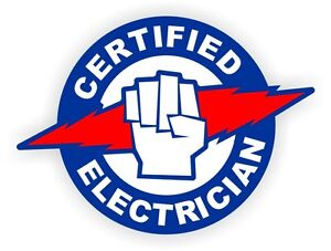 Certified Electrician Hard Hat Sticker Helmet Electric Volts Arc Flash Lockout