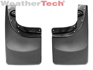 Weathertech No drill Mudflaps For Toyota Tacoma With Ff 2005 2015 Rear Pair