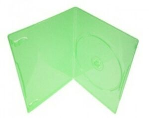 100 Slim Clear Green Color Single Dvd Cases 7mm
