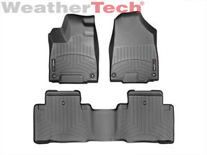 Weathertech Floor Mats Floorliner For Acura Mdx 2014 2019 1st 2nd Row Black