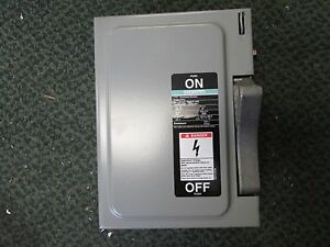 Siemens Non fused Safety Switch Nf351 30a 600v 3p New Surplus