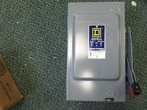 Square D Non fusible Safety Switch Hu 261 30a 600v 2p New Surplus