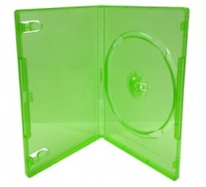 200 Standard Clear Green Color Single Dvd Cases
