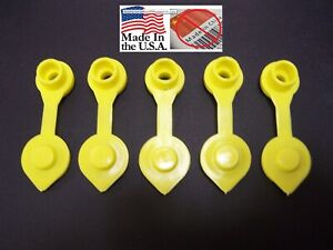 5 Yellow Fuel Gas Can Jug Vent Cap Blitz Wedco Scepter Essence Midwest Eagle