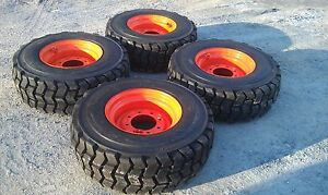 4 New 12x16 5 Skid Steer Tires Rims For Bobcat 12 16 5 14 Ply non Directional