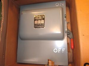 Ge Fusible Safety Switch Tc72462 Single Throw 60a 600v 4p Nema 1 Enclosure New