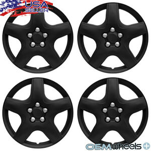 4 New Oem Black 15 Hubcaps Fits 2003 Current Toyota Matrix Wheel Covers Set