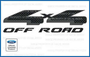 Ford 4x4 Off Road Decals Fcfb Carbon Fiber Black Stickers Truck Bed Side