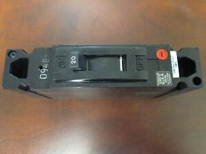 Ge Circuit Breaker Teb111020wl 1p 120vac 20a New Surplus