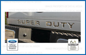 Ford F250 Super Duty Tailgate Letters Inserts Decals Stickers Realtree Camo Ap