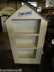 Shelving Unit Children Kids Clubhouse Or Pet Dog Cat House Merchandise Display