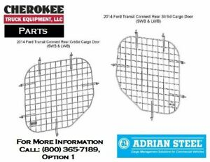 Adrian Steel 60 tc14rb Rear Doors Security Screen Kit Gray Transit Connect