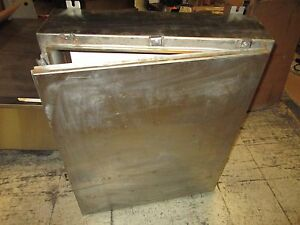 Austin Co Stainless Steel Enclosure Size 36x30x8 W Back Plate Used