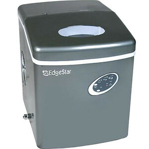 Portable Countertop Ice Machine Edgestar Compact Cube Maker W Titanium Finish