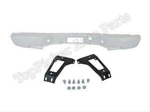 Painted White Rear Bumper Bar Outer Bracket For 99 07 Silverado 3500 Fleetside