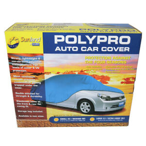 Polypro Car Cover Small Medium Weatherproof Dust Cover S M Cc11