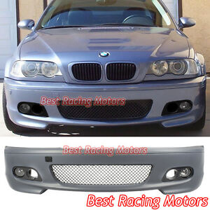 M tech Ii Style Front Bumper Fog Dual Hole Covers Fit Bmw E46 2dr 3 series