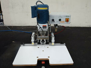 2005 Omal Insert C Pneumatic Hinge Boring Machine woodworking Machinery