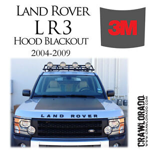 Land Rover Lr3 And Lr4 Hood Blackout Decal Sticker