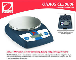Ohaus Cl5000f Food Bakery Weighing Scale 5000 G X1 G 11lb 0 4oz X 0 1oz new