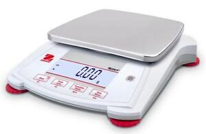 Ohaus Spx8200 Lab Balance Compact Gold Portable Scale 8200gx1g Ac Adapter new