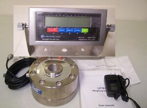 Compression Scale Set 100 000 X 2lb lpd 100k Load Cell indicator Peak Hold new