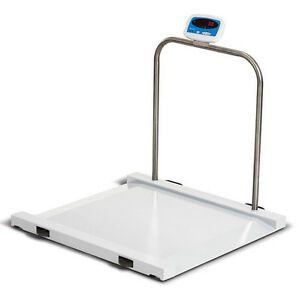 Salter Brecknell Ms1000 Physician Medical Wheelchair drum Scale 1000 Lbx0 5 Lb