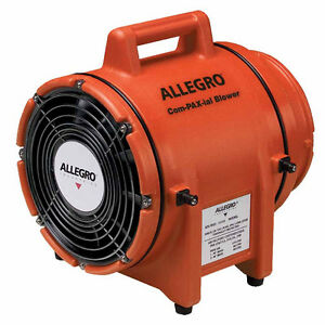 Allegro 9536 Confined Space 8 Dc Plastic Com pax ial Blower 1 3 Hp
