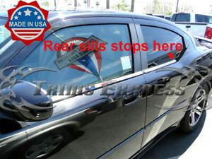 Fit 2007 2014 Dodge Avenger 4pc Window Sill Trim Overlay Stainless Steel