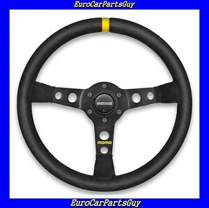 Genuine Momo Mod 07 Black Suede 350mm Racing Steering Wheel New