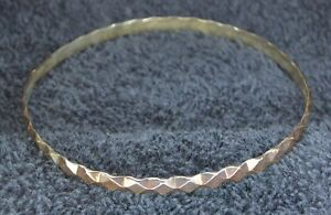 Sterling Silver Scrap Not 7 Grams Thin Full Circle Bracelet Geometric Patterns