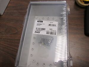 Hoffman Polycarbonate Enclosure E261610ppt Nema 4x Enclosure Inculdes Backplate