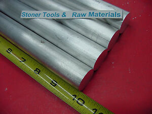 4 Pieces 1 Aluminum 6061 Round Bar 10 Long Solid T6 Rod Lathe Stock 1 00 Od