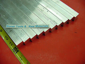 10 Pieces 3 4 x 3 4 Aluminum 6061 Square Flat Bar 12 Long T6511 New Mill Stock