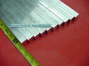 10 Pieces 3 4 x 3 4 Aluminum 6061 Square Flat Bar 13 Long T6511 New Mill Stock