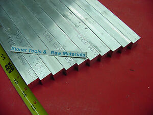 10 Pieces 3 4 x 3 4 Aluminum 6061 Square Flat Bar 14 Long T6511 New Mill Stock