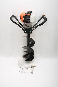 Hand held Post Hole Digger Earth Auger W 10 Dia Bit 43cc 1 75hp Gas Engine