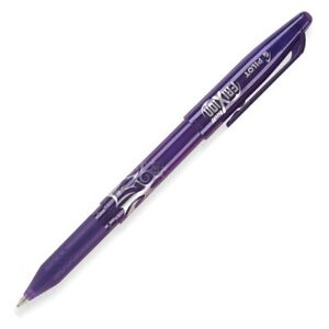 31572 Pilot Frixion Ball Erasable Gel Pen Fine Pt 0 7mm Purple Ink Pack Of 1