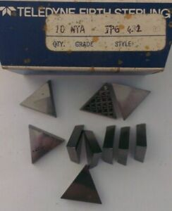 Teledyne Firth Sterling Tpg 432 Nta Lathe Carbide Inserts 10 Pcs New