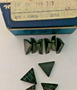 Teledyne Firth Sterling Tpg 322 Ha Lathe Carbide Inserts 10 Pcs New