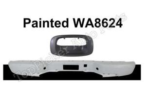 Painted White Rear Bumper Tailgate Handle Bezel For 99 07 Silverado Fleetside